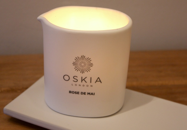 Oskia London Rose De Mai Candle | Pamper Day Favourites
