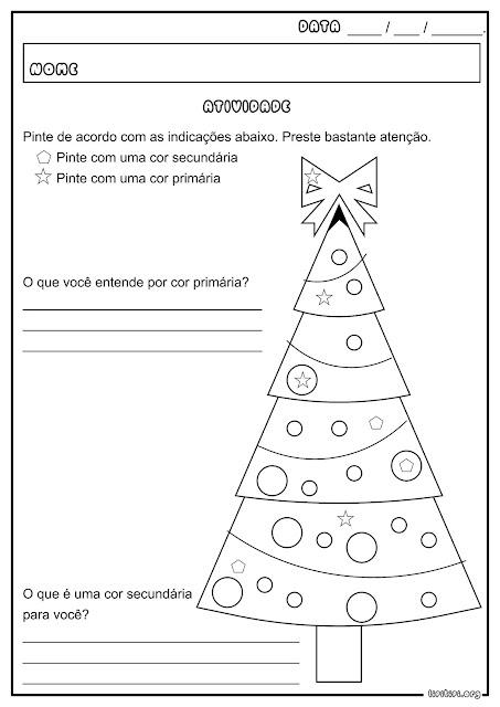 Cores Primárias e Secundárias Natal Atividade