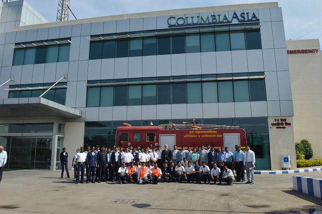Columbia Asia Hospitals, Pune Bolsters Fire Preparedness with Mock Drill in Collaboration with Pune Municipal Corporation