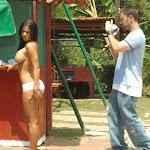 Andrea Rincon, Selena Spice Galeria 33: Gorra Azul, Cachetero Azul Foto 85