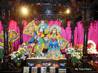 Main deities of Radha and Krishna at the ISKCON temple, Japan