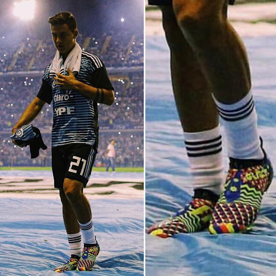 newest 0e994 08425 Dybala Shows Off Outstanding Adidas Glitch Leaked Soccer ...