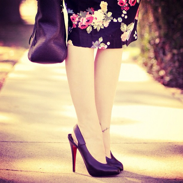 louboutin's, shoes, outfit