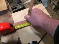 Marking the center of the trim piece
