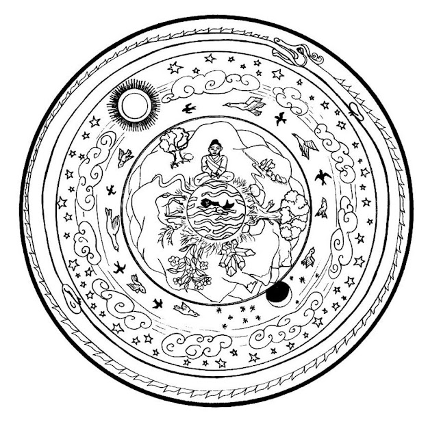 Sweet Christmas Mandala Coloring Page