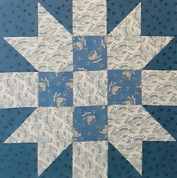 Yankee Notions: Pieced BOM 2020 #5 New England Block