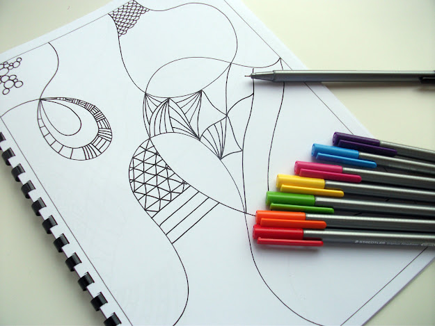 Printable Coloring Book Kids Activity Book Zentangle Inspired  Zendoodle Art Doodles To Finish Zoom