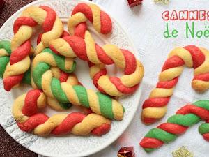 Cannes de Noël rouges et vertes en pâte à cookie !