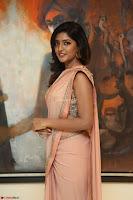 Eesha Rebba in beautiful peach saree at Darshakudu pre release ~  Exclusive Celebrities Galleries 038.JPG