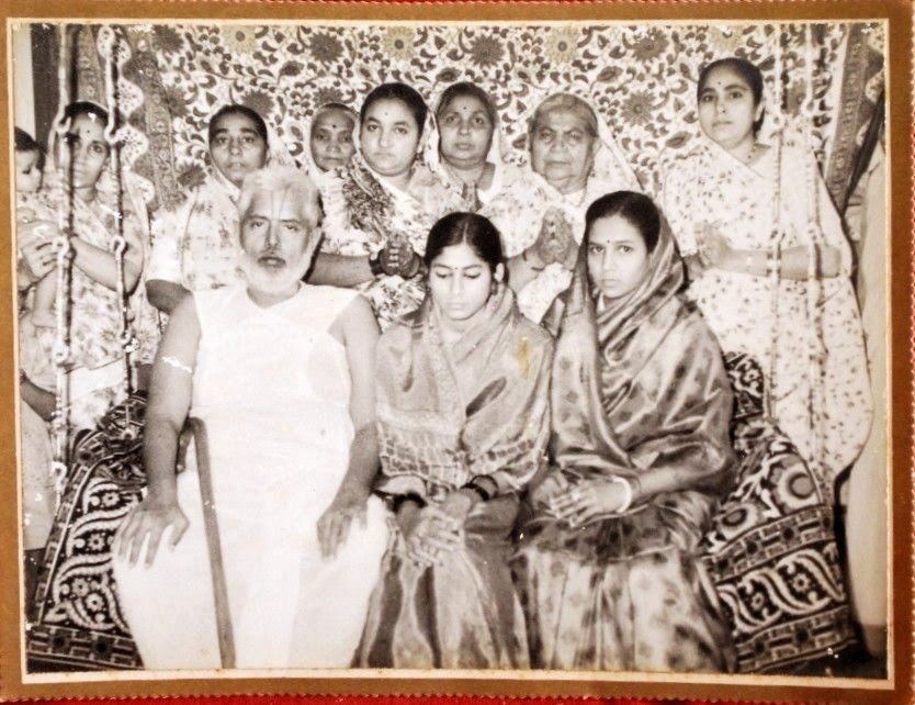 Vintage Group Photograph of an Indian Joint Family