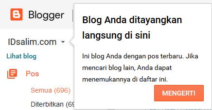 Nah, perubahan yang diberikan blogger adalah bentuk pelayanan kepada penggunakan, sehingga penggunakan akan merasa dimudahkan dengan tampilan dasbor baru ini