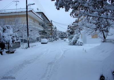2 Φλεβάρη 2012. Ας θυμηθούμε το... μεγάλο χιόνι πριν από 5 χρόνια στην Κατερίνη.