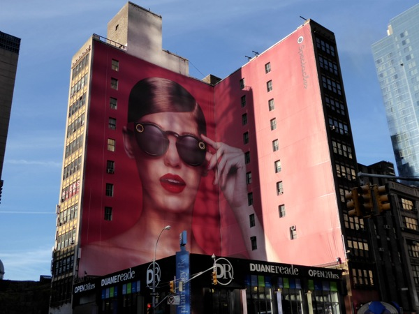 Giant Snapchat spectacles billboard NYC