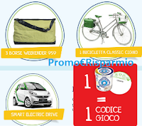 Logo Sammontana : vinci 48 borse Weekender, 16 Bici Cigno 1 Smart Electric