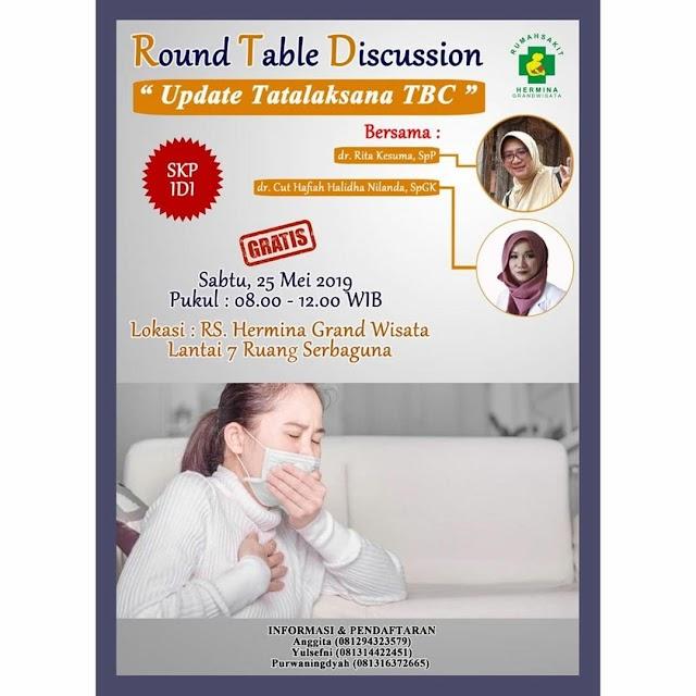 """Free SKP IDI : Round Table Discussion : """"Update Tatalaksana TBC"""" Sabtu, 25 Mei 2019 (08.00-12.00 WIB) Jakarta"""
