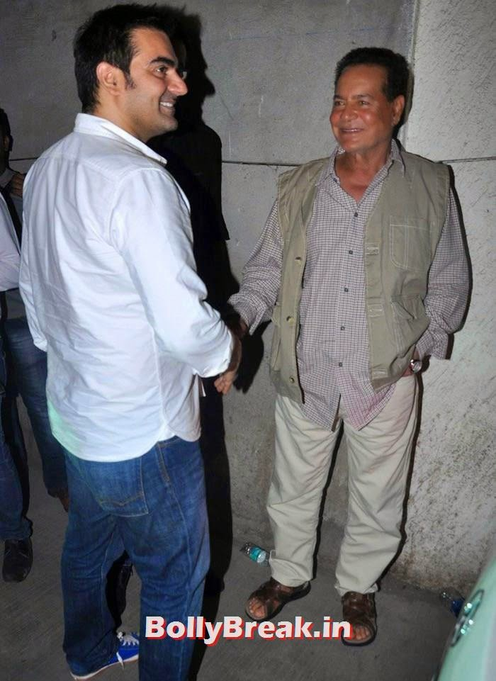 Arbaaz Khan, Salim Khan, 'Humshakals' Movie Special Screening Pics