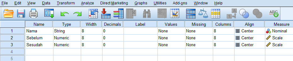 cara uji data dua sampel berpasangan dengan spss statistik nonparametrik