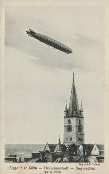 Zeppelinul LZ 127 deasupra Sibiului