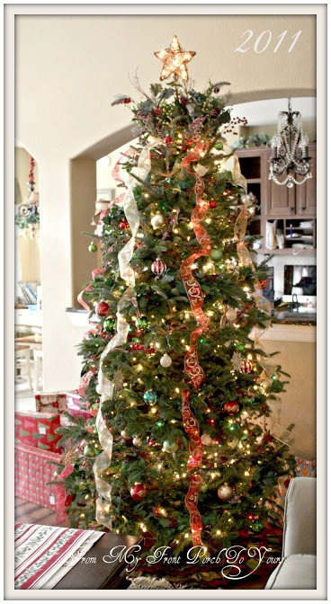 traditional christmas tree christmas tree inspiration from my front porch to yours - How Do I Decorate My Christmas Tree With Ribbon