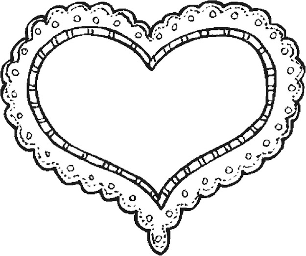 Sweet Heart Valentine Coloring Page