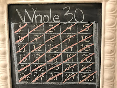 Picture of Calendar View of #Whole30 Countdown and Final Day