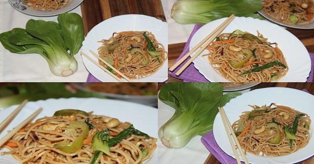 Pak Choi Oriental Style Noodles Recipe