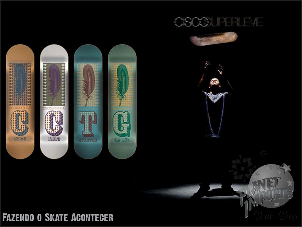 Salve família Skateboard..Acaba de chegar aqui na Planet uma nova remessa de  shapes Cisco. 98000a6cf6d