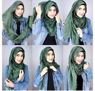 Cara Hijab Pashmina Casual