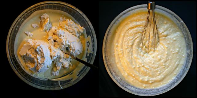 Relleno de quesos y nata montada (crema de leche)