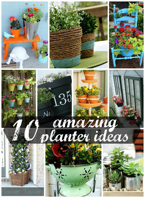 10 Amazing DIY Planter Ideas #planter #outdoorplanter #planterboxes #outdoor @SimplyDesigning