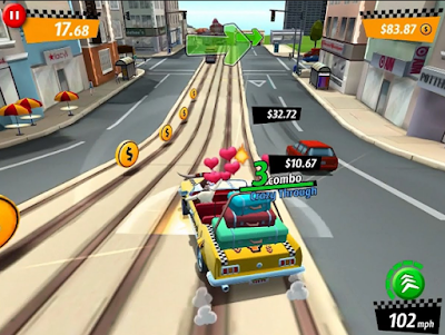 Download Crazy Taxi City Rush v1.7.2 Mod Apk