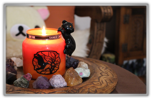 Yankee Candle haul review Halloween Autumn Cat Jar Clinger candy corn Medium Jar