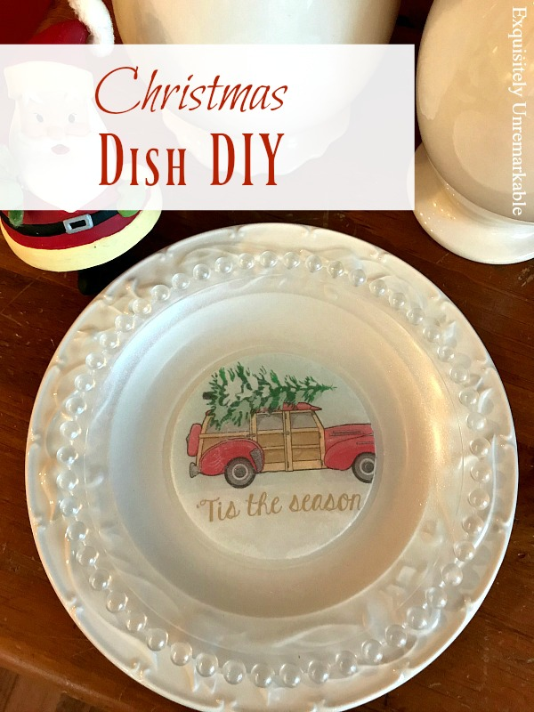 Christmas Dish DIY