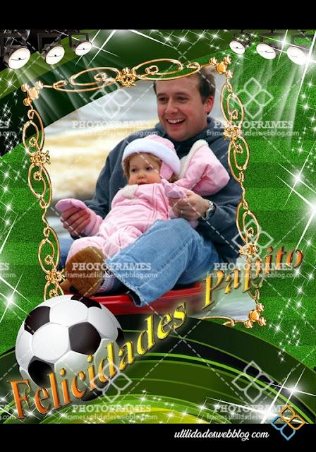 Marco para fotomontajes al estilo football soccer