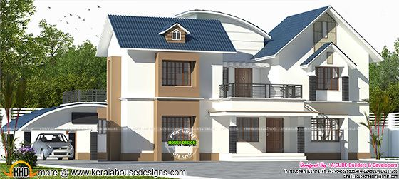 2713 sq-ft mixed roof 4 BHK house