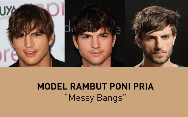 Model Rambut Poni Messy Bangs, gaya rambut