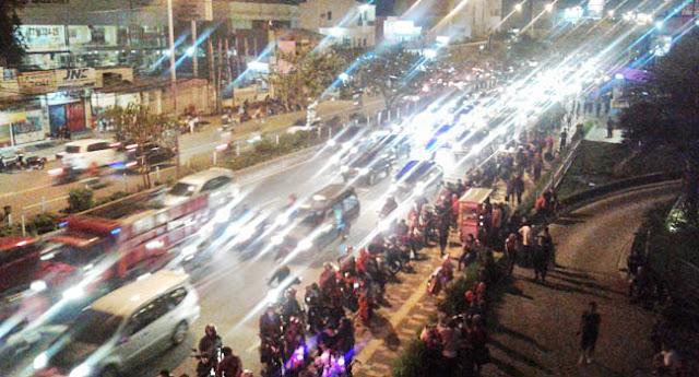 Kemeriahan Pesta Kembang Api Terbesar Hiasi Malam Tahun Baru Di Langit Kota Depok