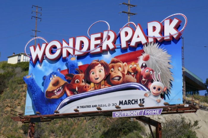 Wonder Park movie 3D billboard