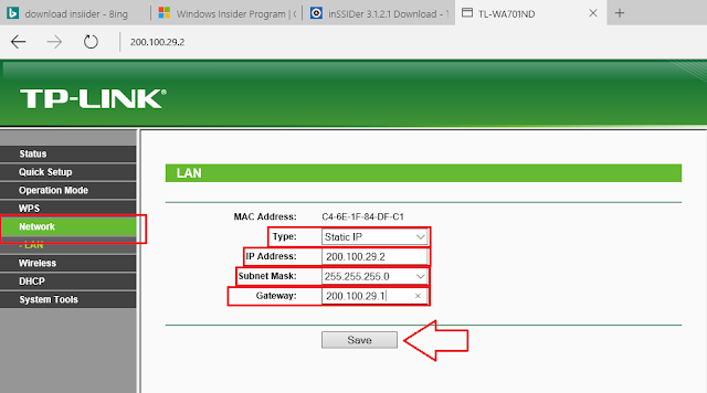 Cara Setting Access Point TP-LINK TL-WA701ND Menjadi AP