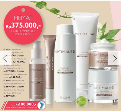 Review Optimals Even Out Skincare Set