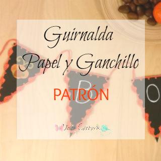 Tutorial Banderines para Fiesta Papel y Ganchillo