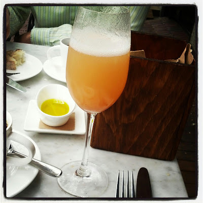 Birthday Bellini at Bistro du Midi in Boston, MA - Instagram Photo by Taste As You Go