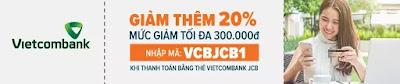 giảm giá khi thanh toán bằng thẻ vietcombank