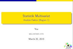 Statistik Multivariat Bab 3 (Bagian 1)