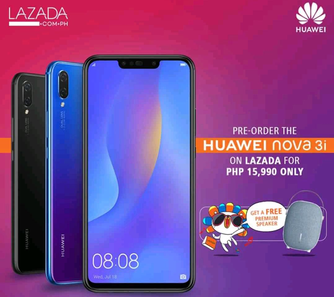 No Sweat Pre Order Of Huawei Nova 3i Now At Lazada Philippines