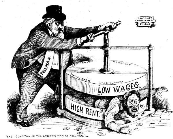 The Issues That Led To The Strike And Boycott Were Succinctly Illustrated  In This Pro Labor Cartoon.