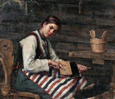 Fille Cardant la Laine, Maria Wiik