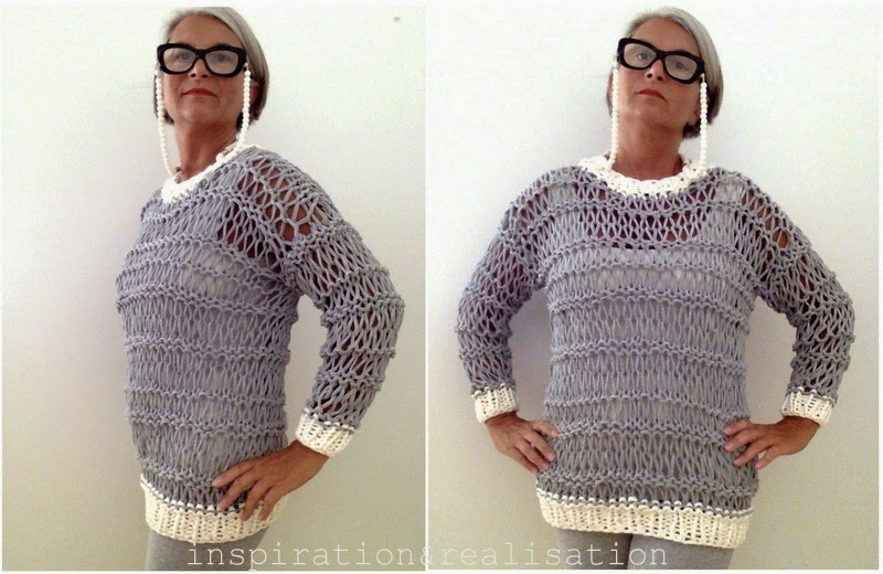ac5e56f87e87 inspiration and realisation  DIY fashion blog  DIY open knit sweater ...