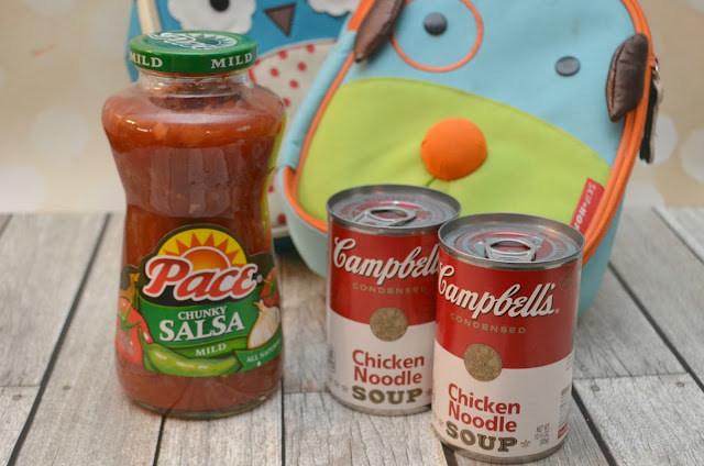 school lunch ideas, lunch ideas for school, salsa roll-up recipe, easy lunches for school, easy school lunches, back to school recipes, recipes with salsa, recipes with chicken noodle soup