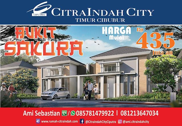 Cluster Bukit SAKURA (Real Estate)  Citra Indah City mulai dipasarkan - Harga Mulai 435 Jtan